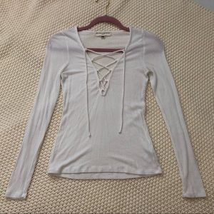 Lace Up Longsleeve Shirt